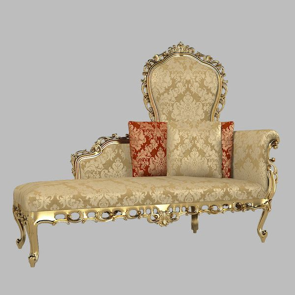 375 best antique new chaise lounges images on pinterest for Antique chaise lounge sofa
