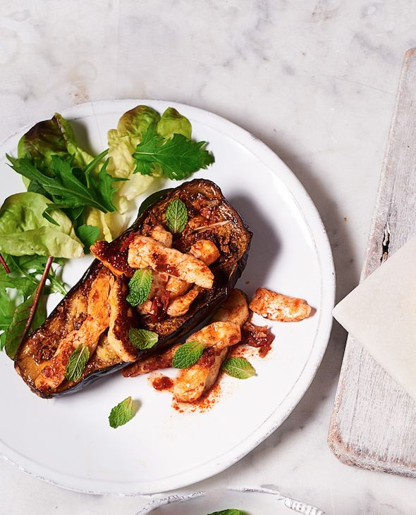 Asda Good Living | Moroccan halloumi and aubergine