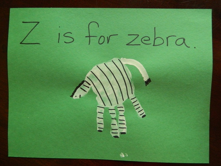 Handprint Animal Alphabet A-Z