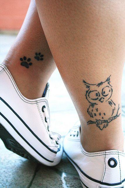 Coruja e patinhas | Tattoo Joyce by Sika., via Flickr