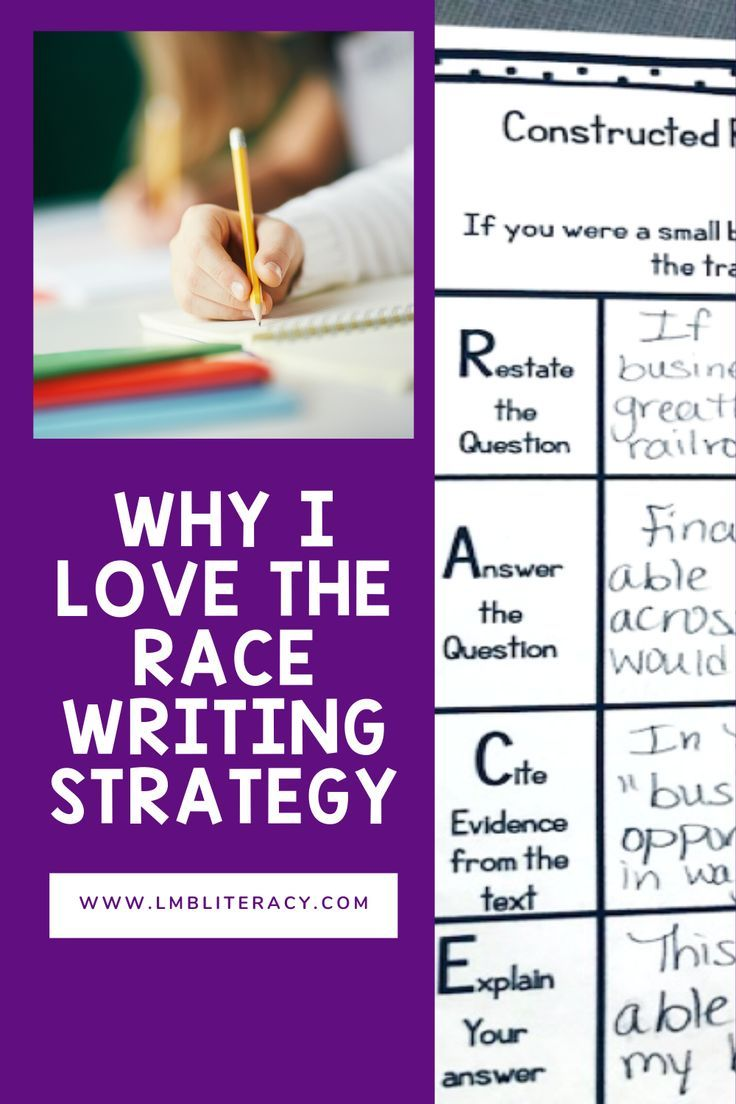Why I Love The Race Writing Strategy Writing Strategies Race Writing Races Writing Strategy [ 1104 x 736 Pixel ]