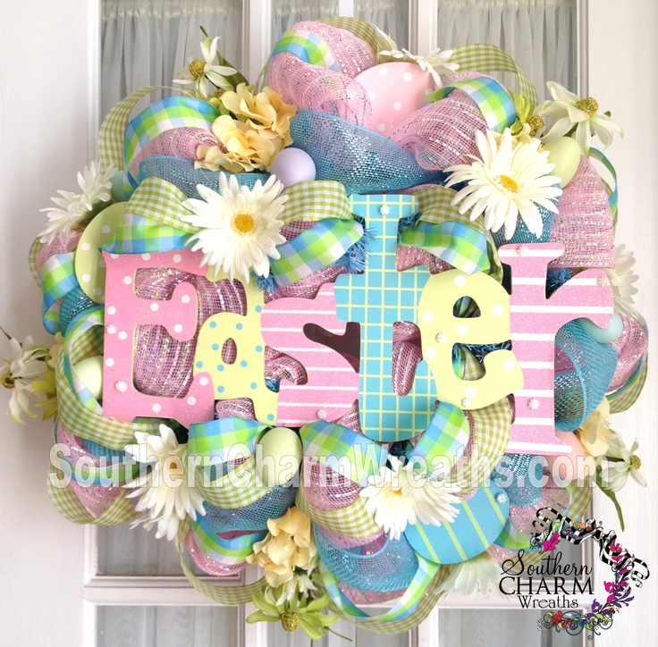 Easter Deco Mesh Wreath By