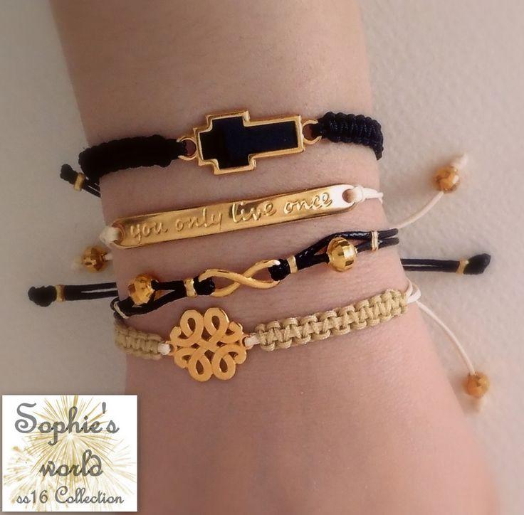 armparty handmade bracelets  #makrame #black #nude #yolo #infinity #bracelets βραχιόλια χειροποίητα μακραμε https://www.facebook.com/Sophies-world-712091558842001/
