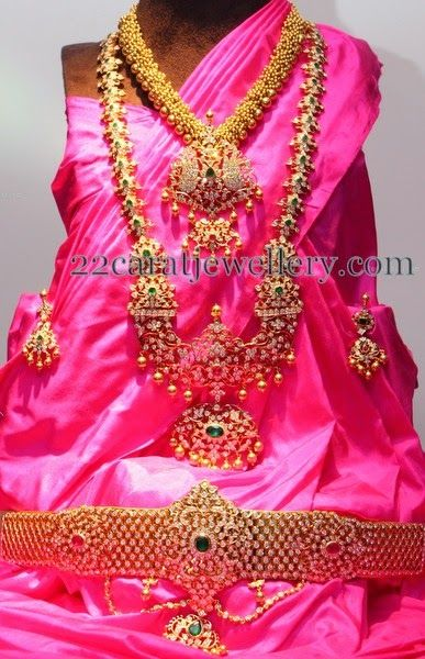 Jewellery Designs: Complete Pachi Wedding Sets