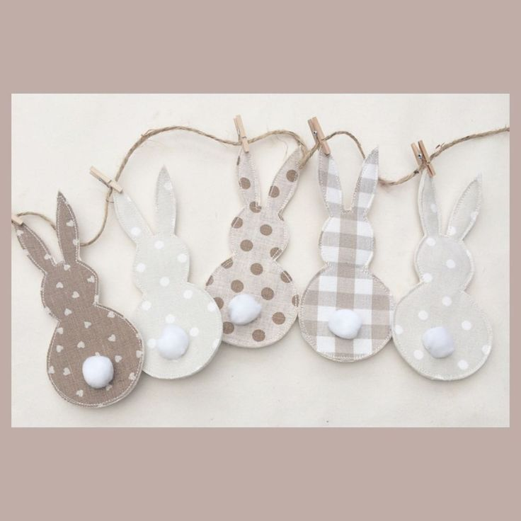 Laura Ashley Neutrals Easter Bunny Bunting Nursery Party Home