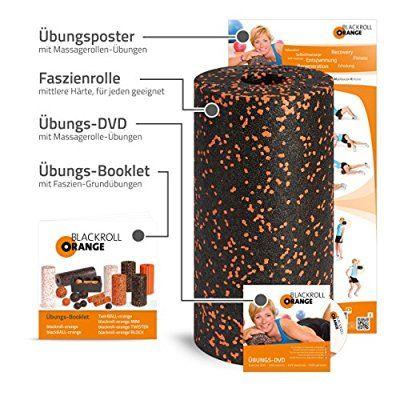 Blackroll Orange (Das Original) - Faszienrolle inkl. Übungs-DVD, Übungsposter & Booklet. Die Massagerolle für die Faszien, auch Foam Roller, Gymnastikrolle, Fitnessrolle genannt, zur Selbstmassage und Behandlung des Bindegewebes. Qualität Made in Germany #firness#blackroll#