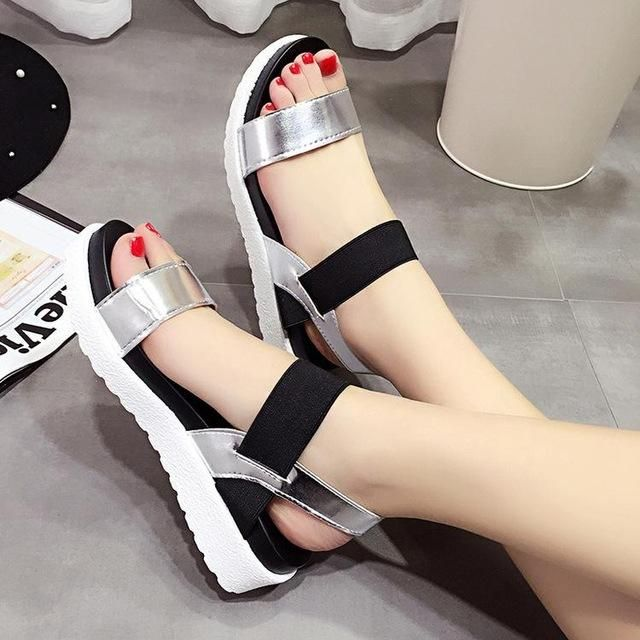 Summer Women Shoes Peep-toe Sandals Flat Shoes Roman Shoes Ladies Flip Flops Footwear