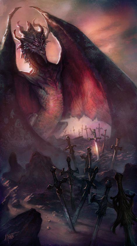 Creature Spot - The Spot for Creature Art, Artists and Fans - Grey Griffins -Dragon piece