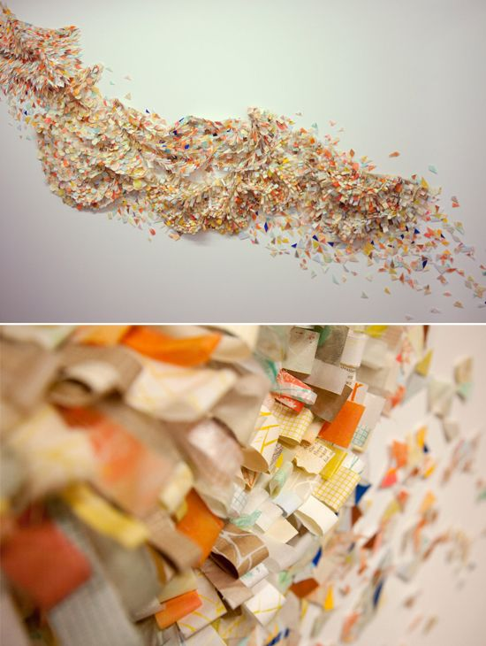 britt bass.Wall Art, Brittbass, Colors, Paper Work, 3D Art, Design, Brittany Bass, Art Installations Paper, Britt Bass