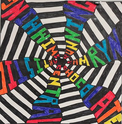 SINKING SPRINGS ART: Art and Math - Sixth Grade Radial Name Design