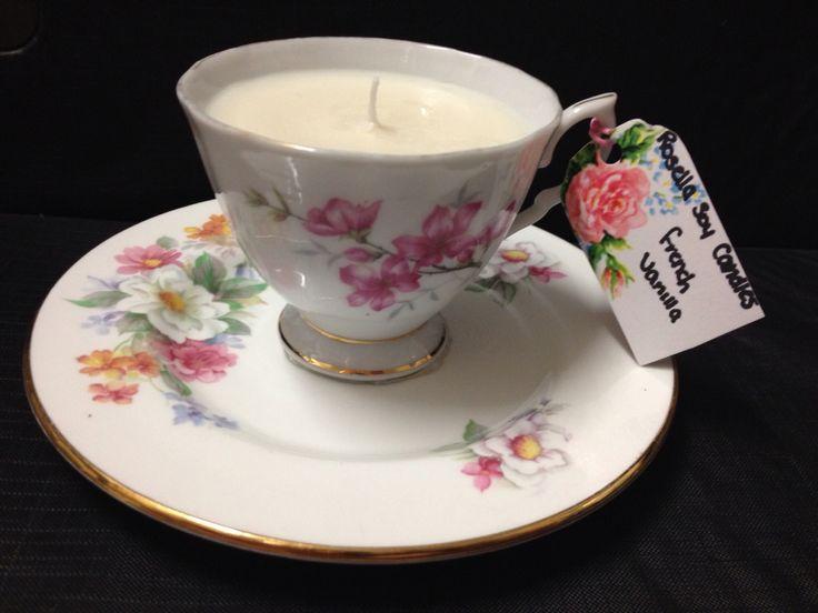 French vanilla vintage teacup
