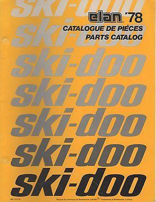 1978 SKI-DOO ELAN  SNOWMOBILE PARTS MANUAL P/N 480 1070 00 (308)