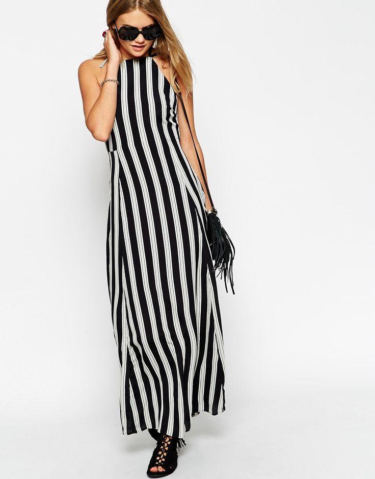 Image 2 - ASOS - Maxi robe rayée à encolure haute