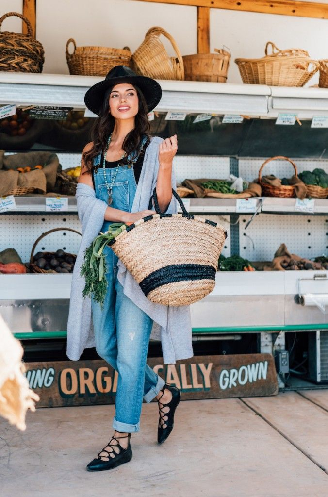 A cute look fit for a day at the local farmers market
