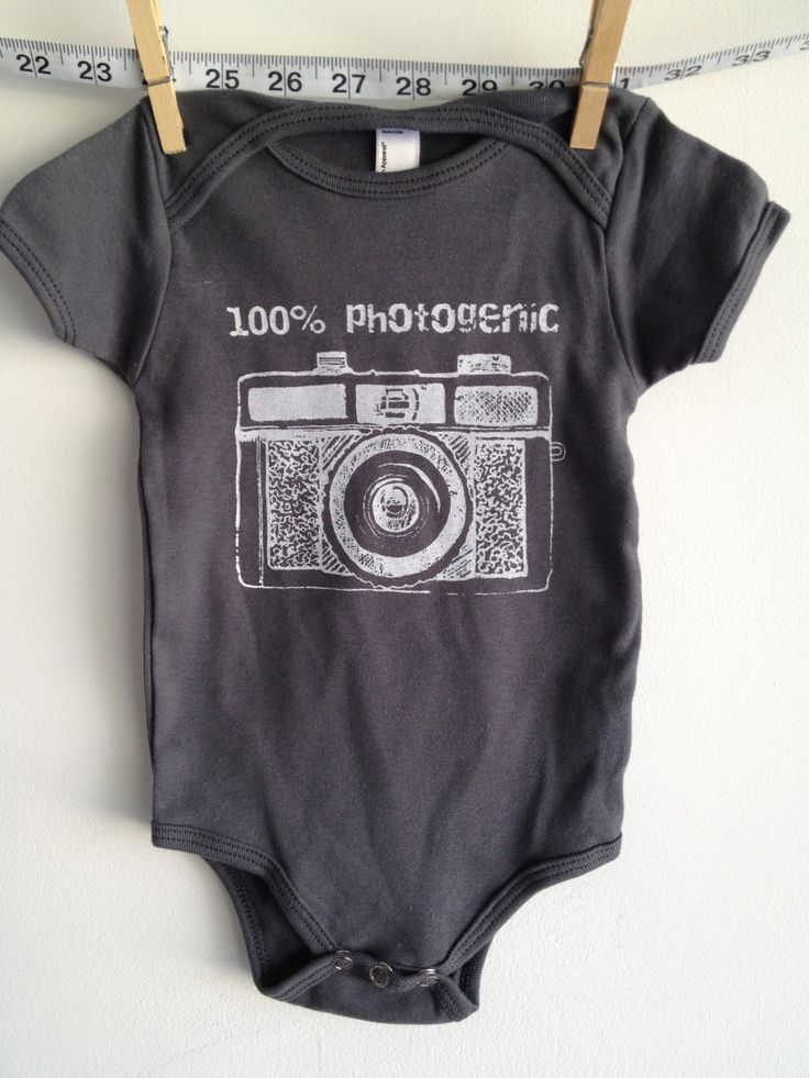 baby clothes baby onesie holga camera by littleleestudios on Etsy, $16.00
