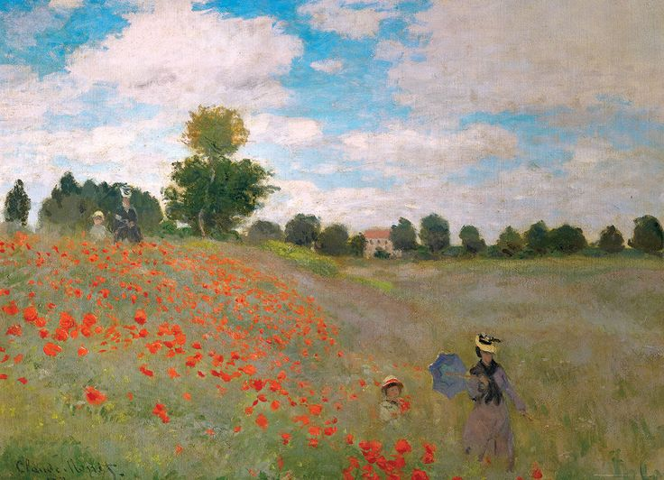 Claude Monet - The Poppy Field. 1000 pieces. The Poppy Field by Claude Monet is housed at the reknown Museum of Fine Arts in Boston, MA.  Money is a founder of the French Impressionist paintings.