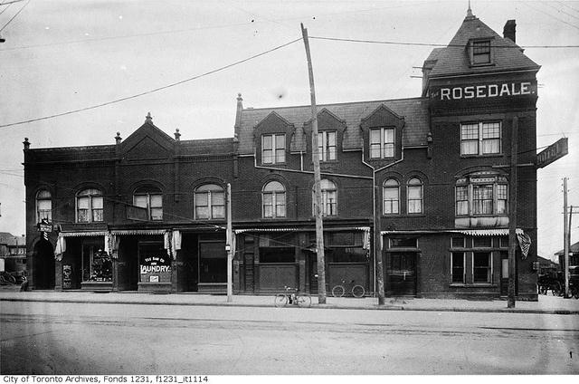 Northeast corner of Yonge Street and Shaftesbury Avenue, Rosedale Hotel by Toronto History, via Flickr