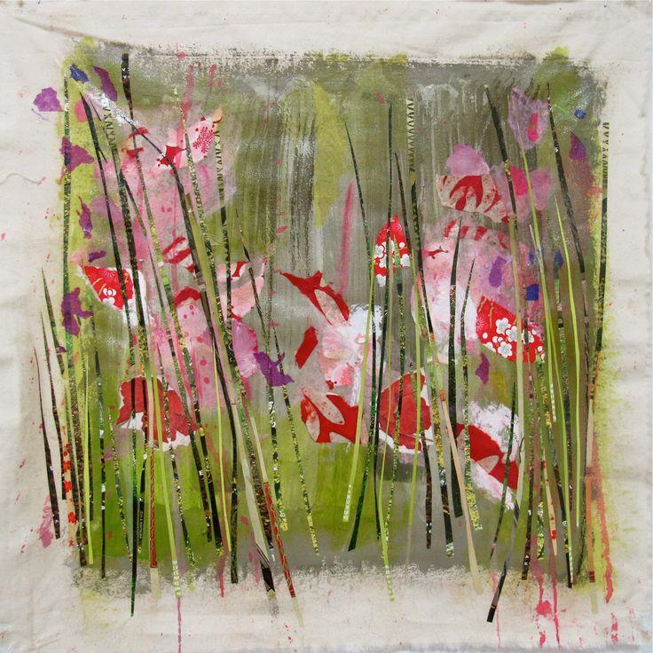 Patricia Blin 2012 Diptyque 1  Technique mixte sur toile   36 X 36 cm Collection particulière