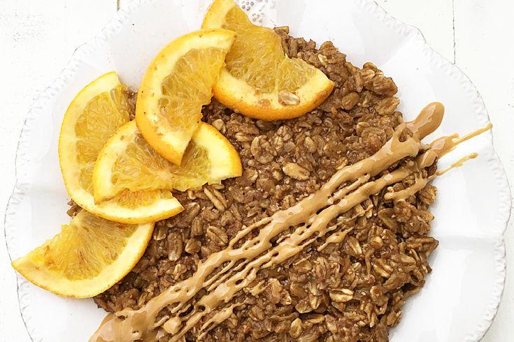 Porridge al caffè con infuso di arancia e cannella #Vegan.