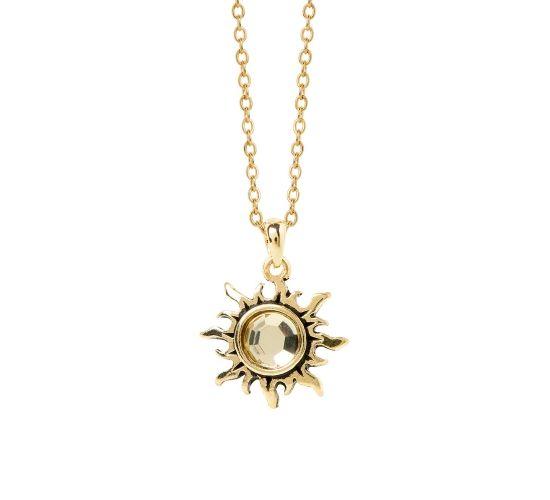 SUN Charm Necklace by Caroline Nérom.