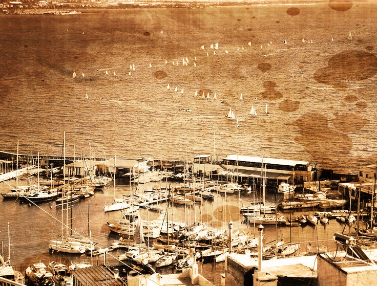 piraeus vintage photo greece