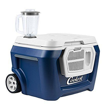 Coolest Cooler Ice-Crushing Blender USB Charger rechargeable battery Speakers  Elevate your adventures with the Coolest Cooler, the only cooler that blends drinks and music with a passion for quality. With more features and fun than all the oth...