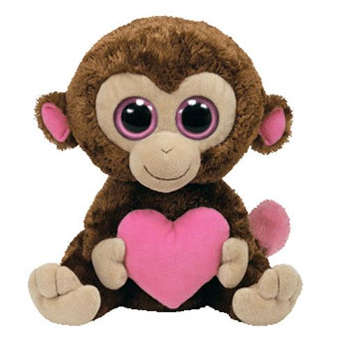 Rare Beanie Boos | TY Beanie Boos - CASANOVA the Valentine Monkey I love you.