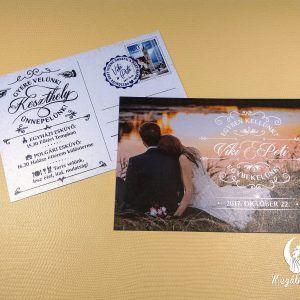 Postcard wedding invitation #esküvői #meghívó #nyomtatott #esküvőimeghívó #egyedi #képeslap #wedding #weddinginvitation #postcard #photo