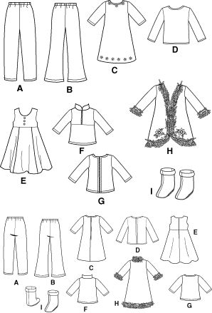 Divine image throughout 18 doll clothes patterns free printable