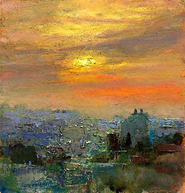 Gorgeous Impressionism. Andrew Gifford - Sunset Over Ramallah