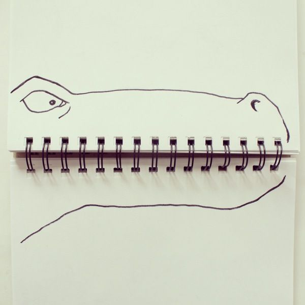 17 Playful Doodles that Incorporate Everyday Objects ... No idea how I'd use this, but too cute not to pin.