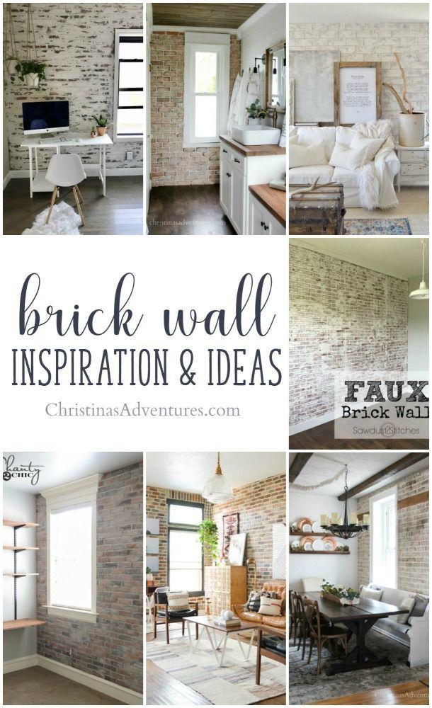 Interior Brick Wall Inspiration Ideas Ideas For Brick Veneer German Smear Faux Brick Allll The Brick Brick Interior Wall Faux Brick Walls Diy Brick Wall