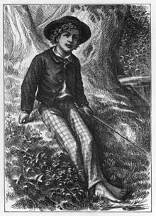 """The Adventures of Tom Sawyer by Mark Twain is an 1876 novel about a young boy growing up along the Mississippi River. The story is set in the Town of """"St. Petersburg"""", inspired by Hannibal, Missouri, where Mark Twain lived."""