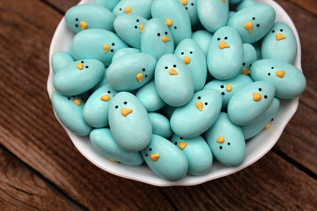 ❥ Jordan Almond Bluebirds by SweetSugarBelle, via Flickr