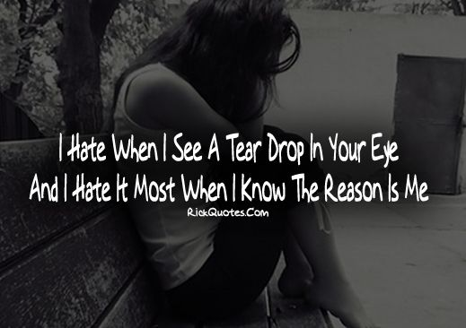 Cry Quotes | Tear Drop In Your Eye