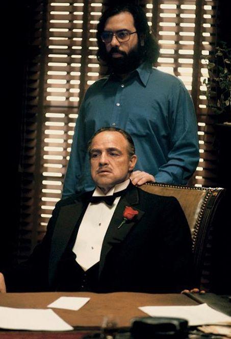 Coppola et Brando sur le tournage du Parrain. Tranquille.