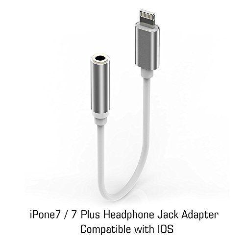 iPhone 7 Adapter Headphone Jack Lightning to 3.5 mm Headphone Jack Adapter for iPhone 7 / 7 Plus Accessories