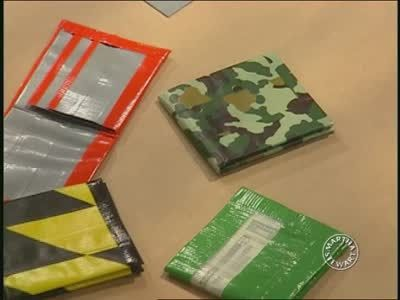 How to Make Duct Tape Wallets Videos | Crafts How to's and ideas | Martha Stewart