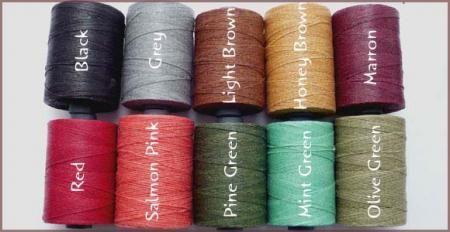 ワックスコード リネン 0.3mm  蝋引き紐 ロウビキ紐 ロービキひも 蝋引き糸
