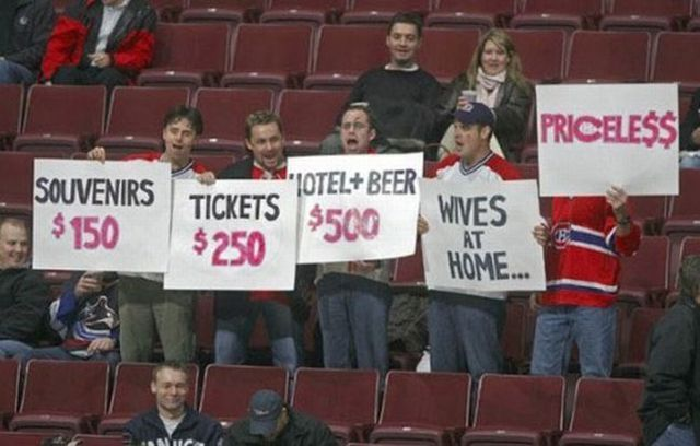 Funny sports signs at games