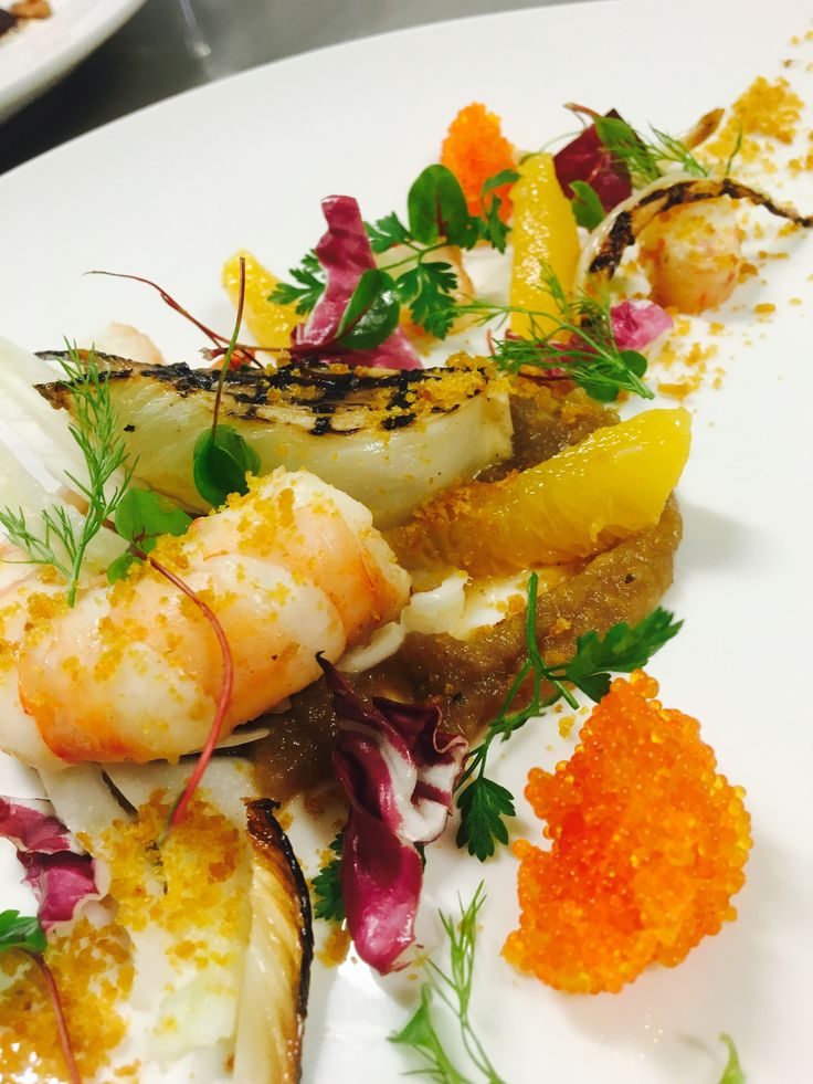 Our butter poached prawns dish made for a 5 course degustation.