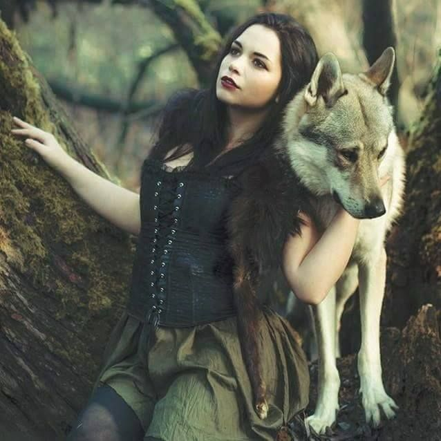 Wolves Girls And Wolf Girl: 282 Best Images About Woman With Wolf On Pinterest