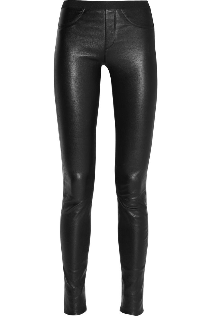 Essential // Helmut Lang | Stretch-leather leggings.  I want some leather leggings so bad!