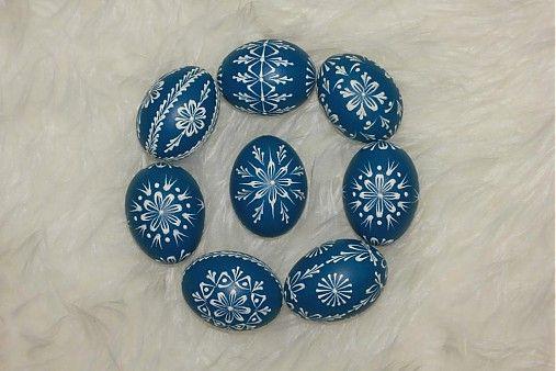 Kraslice modré tmavé