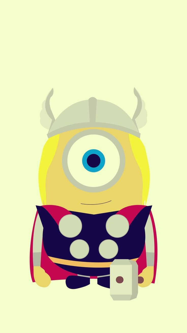 Funny Thor Minion Avengers iphone 6 plus wallpaper HD - 2014 Halloween, Despicable Me