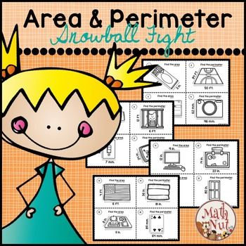 Area and Perimeter Game and Differentiated Instruction contains an engaging whole group game and 60 task cards. The set is designed to practice and review area and perimeter of rectangles. Students will be finding the area and perimeter of objects in the real world, with realistic dimensions.