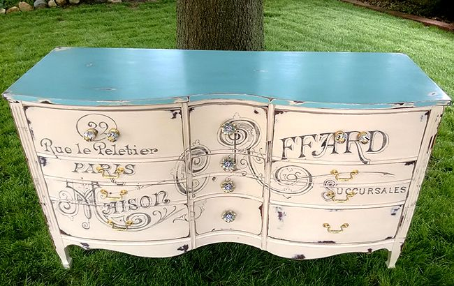 Paris-Painted-Dresser-2 (1) ASCP Old Ochre & Provence on the top part.