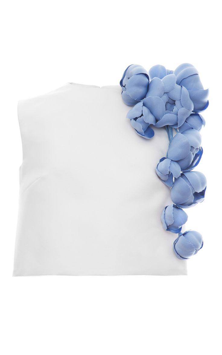 Silk Faille Magnolia Sleeveless Blouse by Esme Vie for Preorder on Moda Operandi