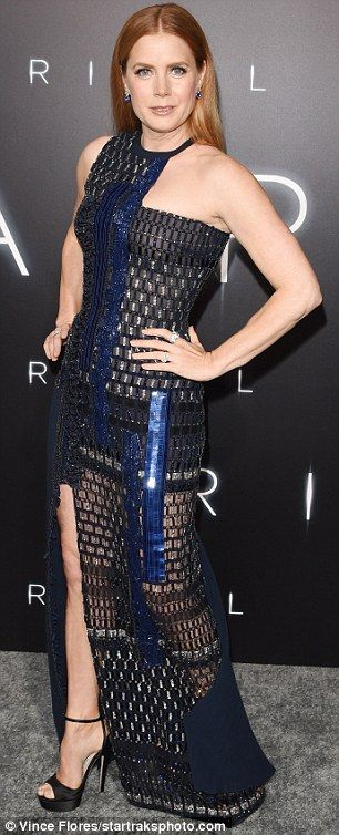 Head-turner: The five-time Oscar nominee looked exquisite in a black and silver sequined d...