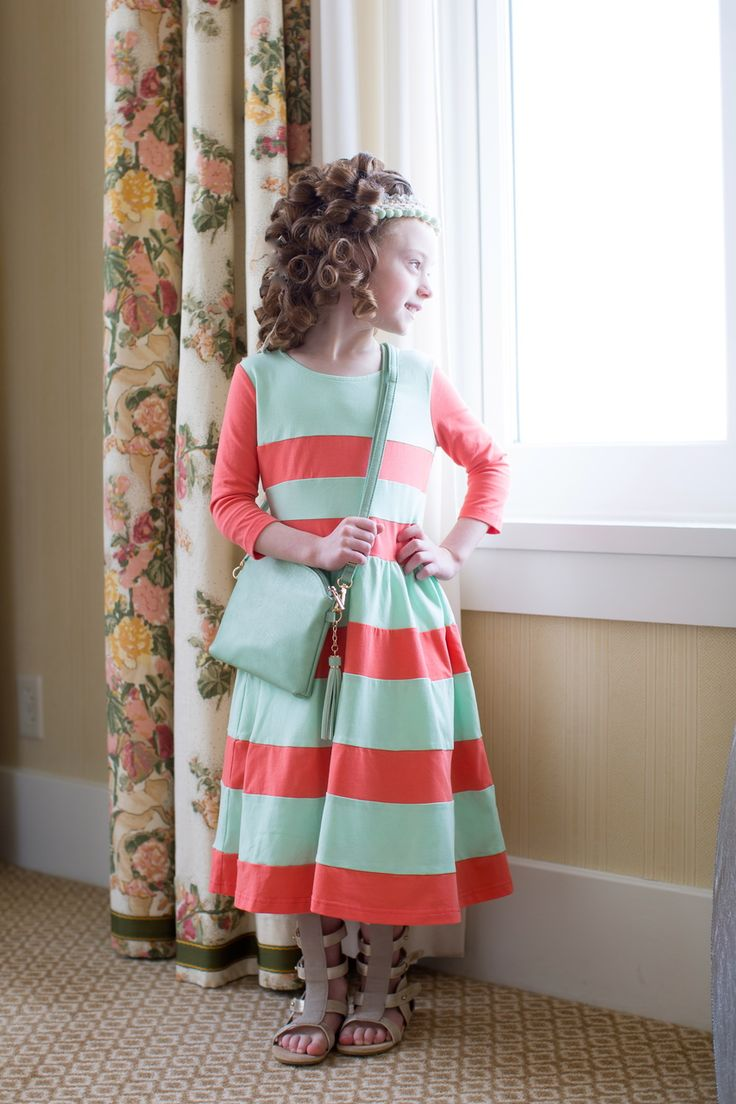 Chic Lady in Coral: available in girls' sizes 2-16 and women's sizes